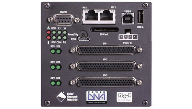 3-slot, Gigabit Ethernet-based I/O, Data Acquisition and Control Cube with PowerPC CPU