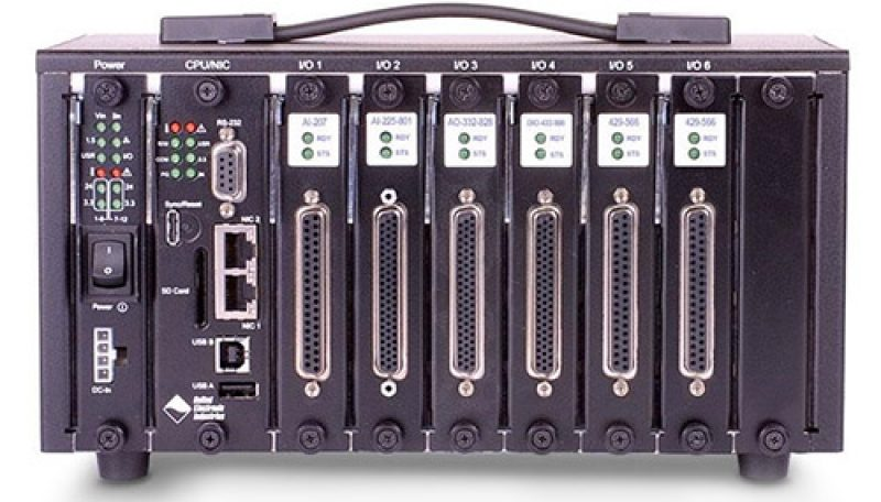 6-slot RACKtangle based I/O chassis for use with OPC-UA