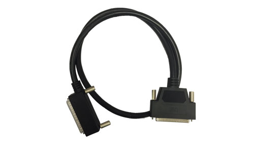 3ft, 37-way round shielded cable with one right angle connector