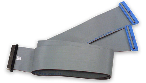 100-way, 1m Y-split flat ribbon cable for PDL-MF boards