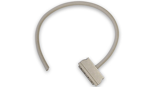 96-way, pinless, round, shielded cable w/metal cover