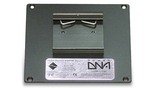 Rear-mount DIN rail clip for PowerDNA 5-layer Cube