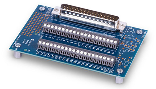 37-channel screw terminal panel