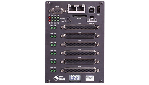 6-slot, Gigabit Ethernet-based I/O, Data Acquisition and Control Cube with PowerPC CPU