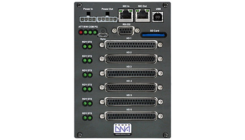 High performance data logger/recorder with 6 I/O slots, SD card reader, and easy-to-use Windows software interface