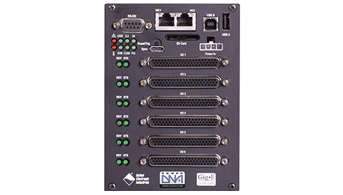 Flexible, GigE, industry standard, Modbus TCP-based data acquisition and control chassis with 6 I/O slots