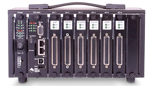 Flexible, field-upgradable, industry standard, Modbus TCP-based data acquisition and control chassis with 6 I/O slots