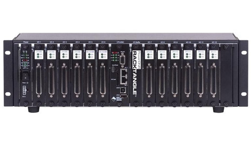 Real-Time, GigE, rack mountable (3U chassis), programmable automation controller (PAC) with 12 I/O slots