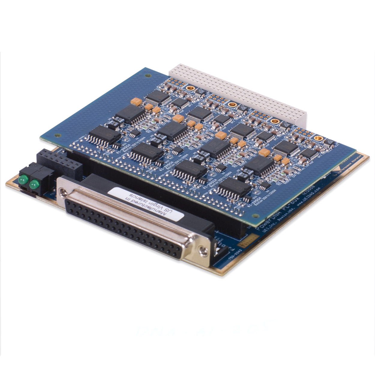 4-channel, 18-bit, 250 kS/s per channel, simultaneous sampling analog input, data acquisition board