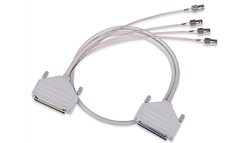 IRIG cable providing BNC connections for Clock/IRIG signals and 37-pin connections for other I/O (2 foot long)
