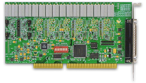 16-channel, 12-bit ISA analog output board (replaces Keithley's DDA-16)