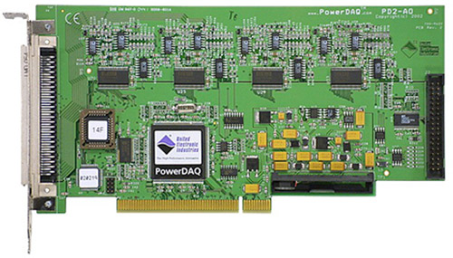 16-channel, 16-bit, 100 kS/s per channel PCI analog output board
