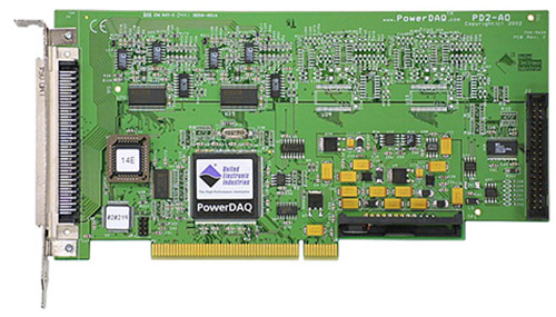 8-channel, 16-bit, 100 kS/s per channel PCI analog output board
